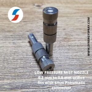 Low pressure mist nozzle for pneumatic connectors india chennai mumbai delhi kolkatta bangalore hyderabad