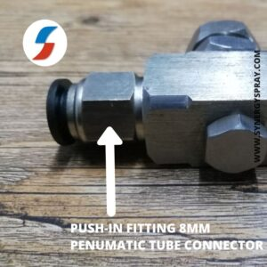 air atomizing nozzle connector push fit