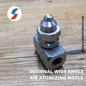 internal mixing wide angle fine spray air atomizing nozzle india chennai