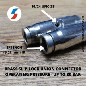 10mm slip lock connector for high pressure misting nozzle system india